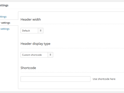 header-settings-shortcode