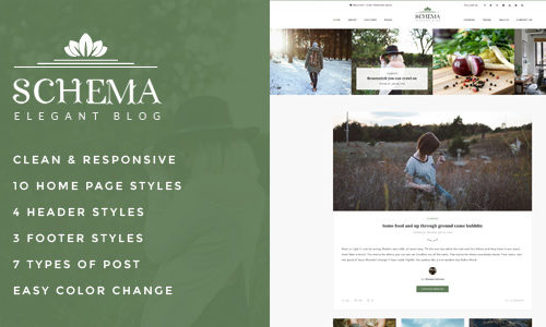 Schema Elegant Responsive WordPress Blog